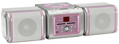 Alba SYS2046CDPNK Ultra Compact Micro System in Pink Finish