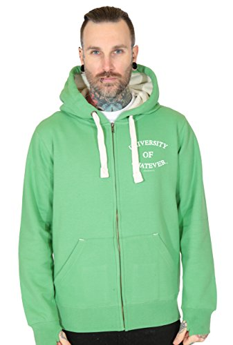 Uomo Felpa con cappuccio e zip - L Verde - University of Whatever Unestablished Range