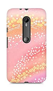 Amez designer printed 3d premium high quality back case cover for Moto G Turbo Edition (Pattern Pink)