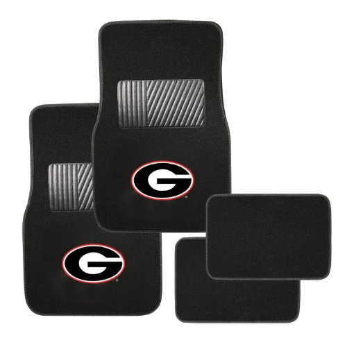 Pilot Alumni Group FM-930 Universal Fit Four Piece Floor Mat Set (Collegiate Georgia Bulldogs) (Georgia Car Mats compare prices)
