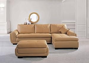 uk furniture point designer light brown top graded real leather corner sofa suite model l c s. Black Bedroom Furniture Sets. Home Design Ideas