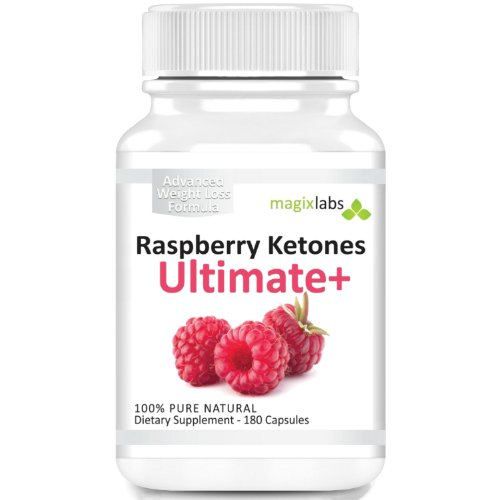 Raspberry Ketones Ultimate  All Natural Weight Loss Supplement and Appetite Suppressant  180 Vegetarian Capsules  Full 36 Months Supply  100% Money Back Guarantee! Picture
