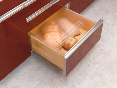 Rev-A-Shelf BDC-200-20 Bread Drawer Kit - Polymer-Translucent