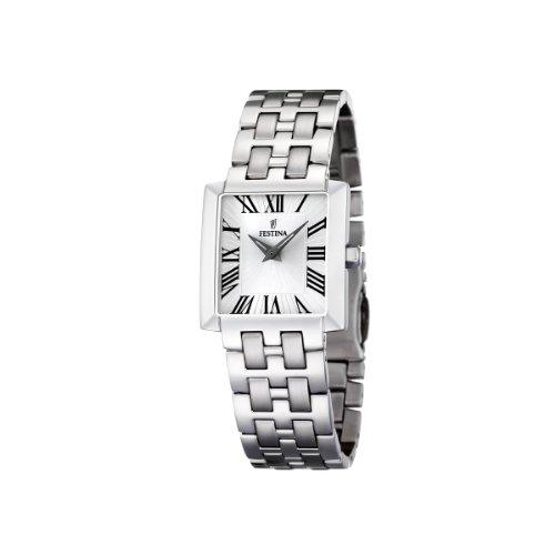 FESTINA F16468/3 - Reloj de mujer de cuarzo, correa de acero inoxidable color plata