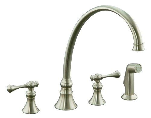 Danze kitchen faucets kohler k 16111 4a bn revival kitchen sink faucet vibrant brushed nickel for Kohler revival bathroom faucet