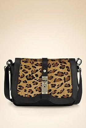 Autograph Leather Leopard Print Shoulder Bag 80