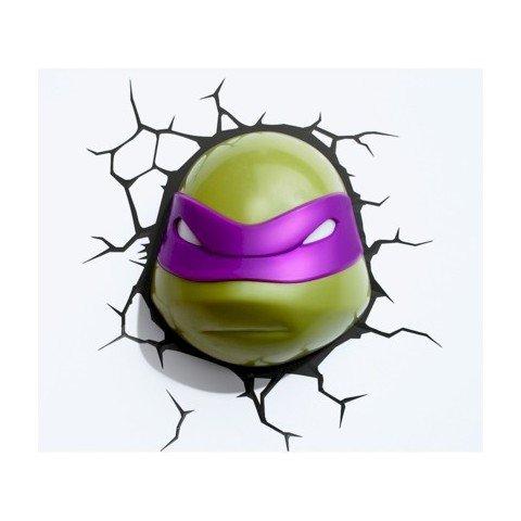 Teenage Mutant Ninja Turtles 3D Wall Nightlight - Donatello Face