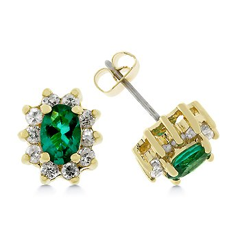 Isady - Leia Smaragd - Damen Ohrringe - Ohrstecker - 585 Gelbgold platiert - Zirkonia Gruen