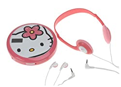 HELLO KITTY Personal CD Player with 60-Second Anti-Skip Protection