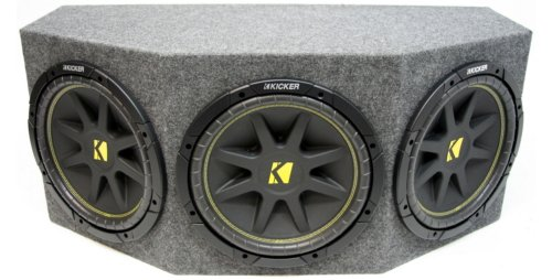 "Asc Package Triple 10"" Kicker Sub Box Sealed Rearfire Subwoofer Enclosure C10 Comp 900 Watts Peak"