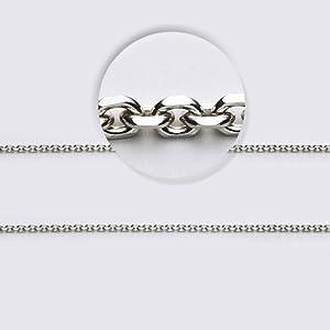 LIOR - Chaîne Cable en Or blanc 750/1000 (18kt) pour les hommes et les femmes -45 cm