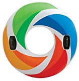 "Search : Intex Inflatable Color Whirl Floating Tube Raft with Handles 47"" Color May Very #58202"