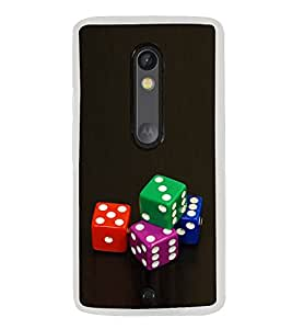 Colourful Dice 2D Hard Polycarbonate Designer Back Case Cover for Motorola Moto X Play