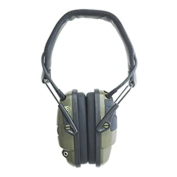 Howard Leight by Honeywell Impact Sport Sound Amplification Electronic Earmuff, Green (R-01526