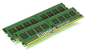 Kingston ValueRAM 4 GB Kit (2x2 GB Modules) 1333MHz PC3-1066 DDR3 DIMM Desktop Memory KVR1333D3N9K2/4G