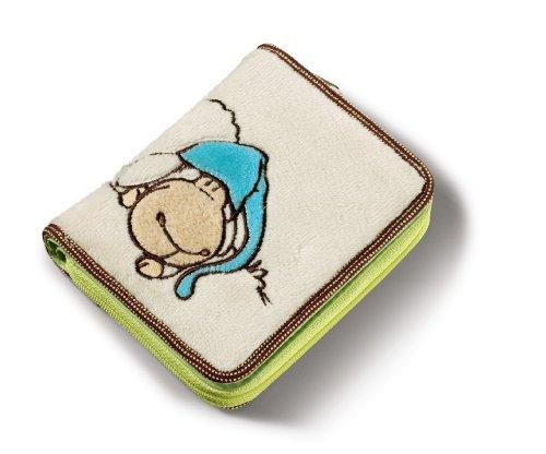 Nici 34319 Jolly Sleepy - Monedero de peluche (12 x 9,5 cm), color beige