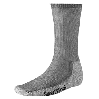 Smartwool Men's Hiking Medium Crew Sock (Small, Gray)
