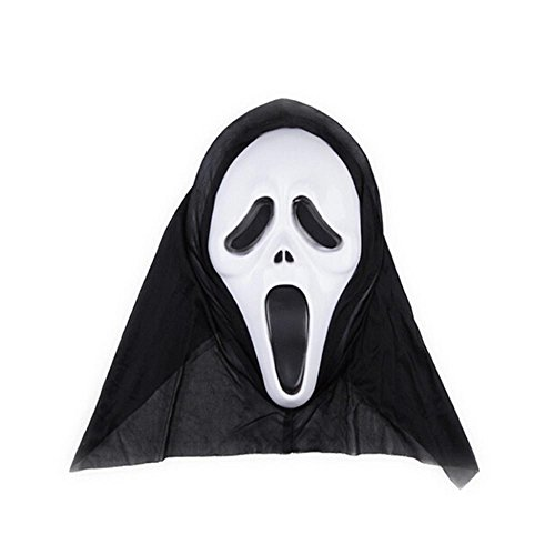 HuaYang 2015 Halloween Adult Scream Costume Screaming Devil Face Scary Ghost Grimace Masks Party Cosplay Props(White (Devil Face Halloween)