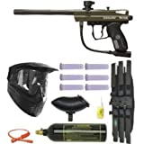 2012 Spyder Victor Paintball Gun Marker MEGA Package - Olive