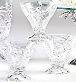 Shannon Crystal South Beach Palm Dessert Cups, 8 Ounce - Set of Four, By Godinger