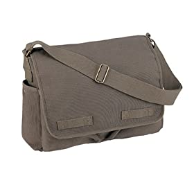Heavyweight Canvas Messenger Bag Olive Drab