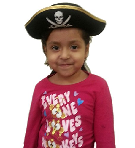 Child's Felt Pirate Hat - Kids Felt Pirate Hat Costume Accessory