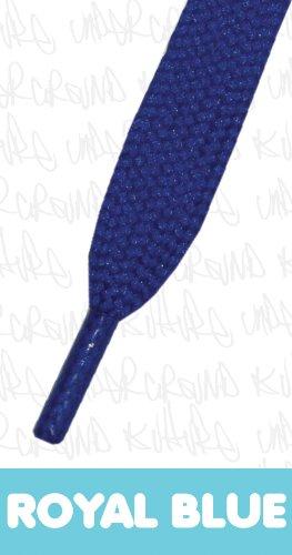 Flat Coloured Skate Shoelaces - ROYAL BLUE 11mm x 120cm