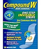 Compound W Wart Remover One Step Invisible Strips-...