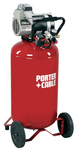 Porter-Cable C6110 15 Amp 2-Horsepower 25-Gallon Oil-Free Wheeled Vertical Compressor
