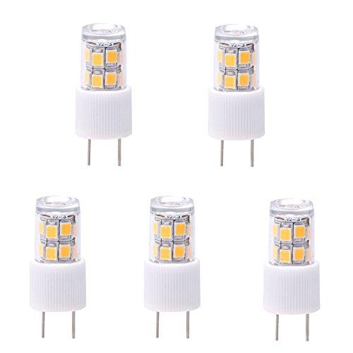 Hero-Led T4 G8 Bi-Pin Led Halogen Replacement Bulb, Under Counter Kitchen Lighting, Under-Cabinet Accent Puck Light Desk Lamp Landscape Lighting, 20W Equal, 5-Pack, Warm White 3000-3500K
