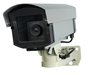 Professional Fake Dummy Security Surveillance Video Camera with Flashing LED DM-PROFlash-1E