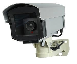 Professional Fake Dummy Security Surveillance Video Camera with Flashing LED DM-PROFlash-1E