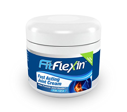 FitFlexin Fast Acting Joint Cream [2oz Jar] – World's #1 Rated Formula for Joint and Lower Back Pain Relief – #1 Natural Supplement for Arthritis and Other Inflammatory Joint Stiffness Related Issues – Aids Joint Health, Flexibility and Vibrancy as Intense, Anti-Inflammatory, Deep Joint Discomfort Reliever with Premium Grade, High Potency Camphor, Pyridoxine (Vitamin B6), MSM (methylsulfonylmetha
