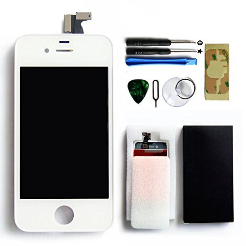 Ztr Replacement Lcd Touch Screen Digitizer Assembly For At&T Gsm Iphone 4 White