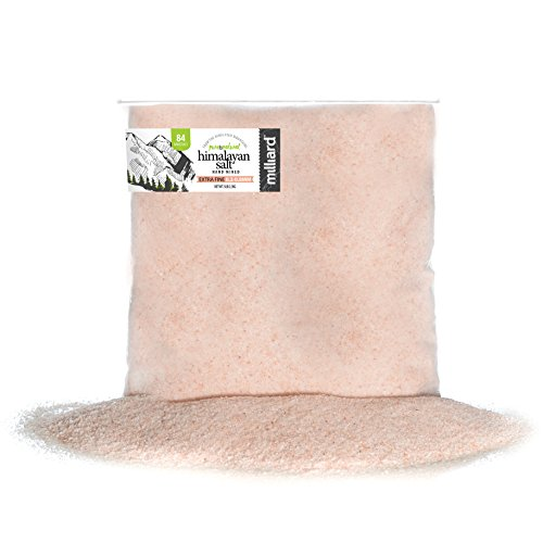 Milliard Himalayan Salt Extra-Fine Crystals - Pure and Natural with Minerals and Nutrients for Health Benefits (0.2-0.8 mm) 5Lb. Bag