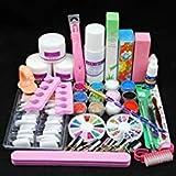 Acrylic powder Shiny Glitter Nail Art Decoration Acrylic Nail Kit (Color: Acrylic Nail Art Designs Kit)