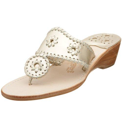 Jack Rogers Women'S Hamptons Midwedge Sandal Sandal,Platinum,6.5 M front-922162