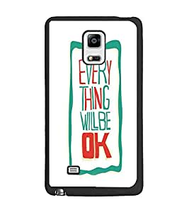 PrintDhaba Quote D-4241 Back Case Cover for SAMSUNG GALAXY NOTE 4 (Multi-Coloured)