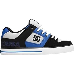 DC Men's Pure XE Sneaker,Black/Nautical Blue,11.5 M US