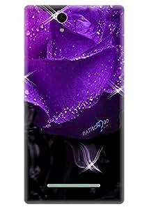 Spygen Premium Quality Designer Printed 3D Lightweight Slim Matte Finish Hard Case Back Cover For Sony Xperia C3