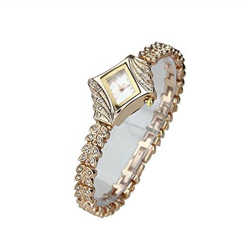 Muchbuy Luxury Women Lady Rhinestone Crystal Quartz Wrist Watch