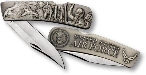 Air Force Lockback Knife - Large Nickel Antique