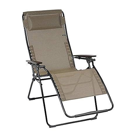 Lafuma Futura XL Noir naturel/gris Bronze Batyline Chaise longue de jardin