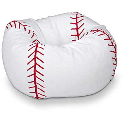 96 Round Vinyl Bean Bag, Baseball