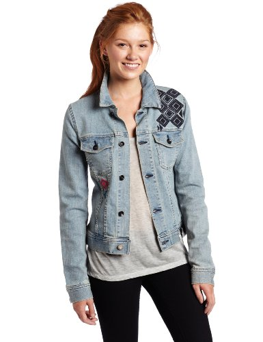 Roxy Juniors Bonfire Spirit Icon Jacket, Blue, X-Large