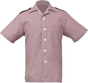 Uniform Works HKSM-TER-S  Junior Cord Men's Housekeeping Shirt, Terracotta, Small