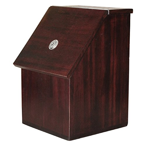 My Charity Boxes - Wood Suggestion Box - Donation Box - Ballot Box - Locking with 2 Keys - For Wall or Counter Top (Furniture Brown)