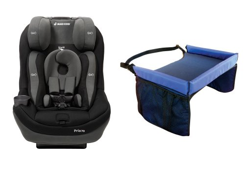 Maxi-Cosi Pria 70 Convertible Car Seat With Tiny Fit & Snack Tray, Total Black