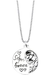 """Silver """"Sisters Forever"""" Pendant Necklace"""
