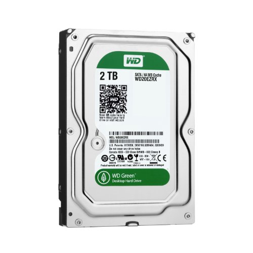 【Amazon.co.jp限定】WD 内蔵HDD Green 2TB 3.5inch SATA3.0(SATA 6 Gb/s) 64MB Inteilipower 2年+1年延長保証 WD20EZRX/EWN (FFP)